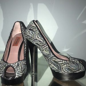 Missoni platform pumps black grey 37 6.5
